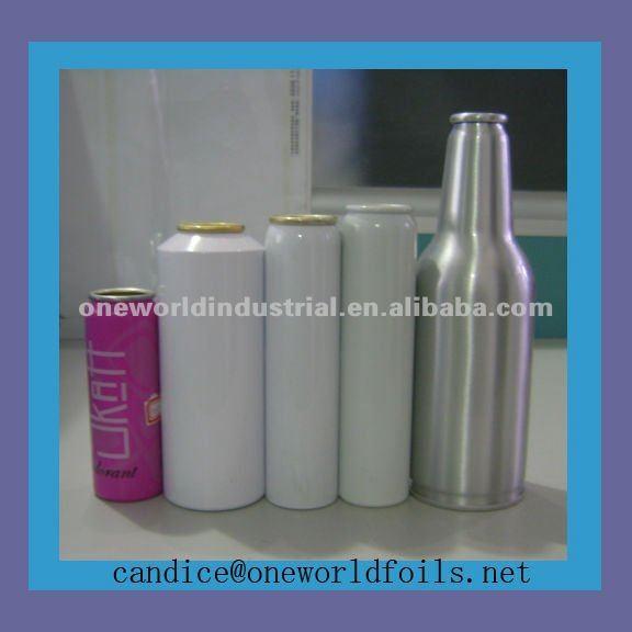 aluminum spray hair color can