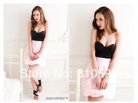 Женское платье 2013 New Charming Style Chest Wrap Lady's Sexy Slim Dress Pink BQNM40051