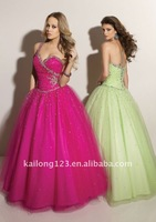 Платье на студенческий бал Beautiful Ball Gown Beading With Removable Strap Prom dress