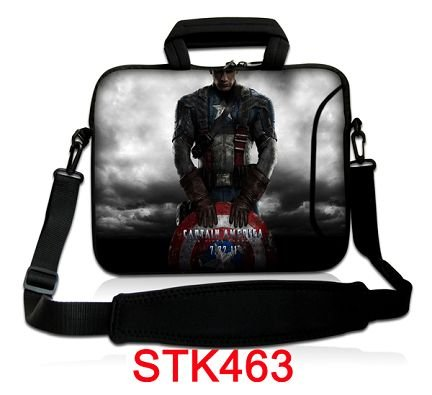"Cool 10.1"" 10.2"" 10"" Warrior Laptop Notebook Case Two Pockets Cover Bag Pouch Holder PC Shoulder Protector Waterproof Dustproof"
