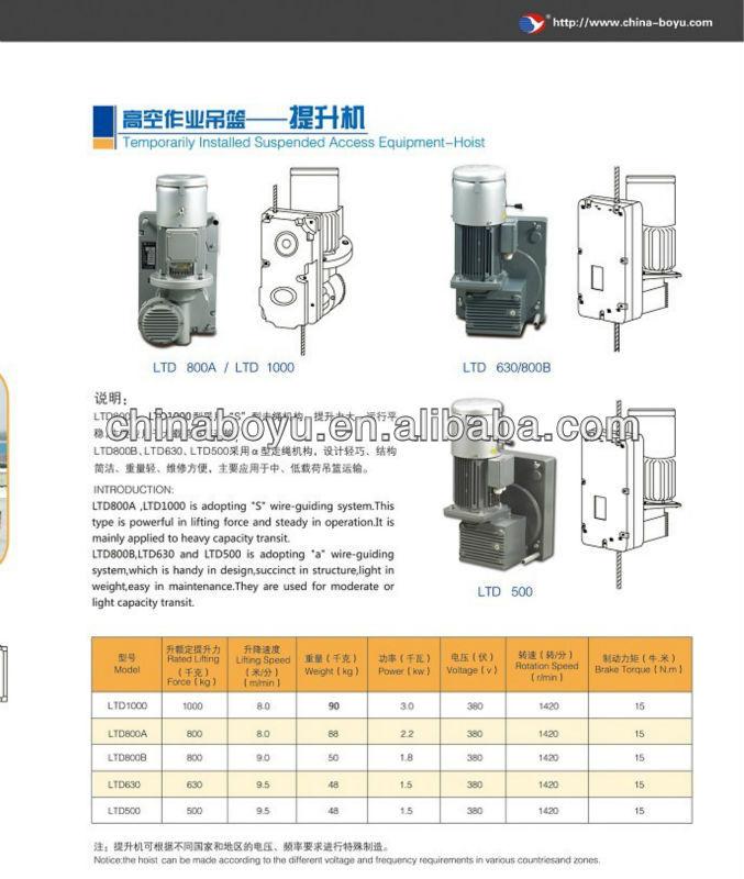 Elevator hoist/hoist/motor hoist/lifting hoist/winch