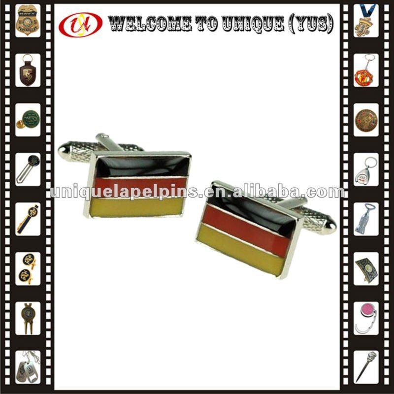 Custom national flag cufflink with epoxy
