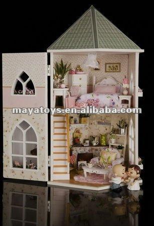 Houten speelgoed poppenhuis liefde burcht houten plek sieren artikel hout ambachten product id - Decoratie volwassenen kamers ...