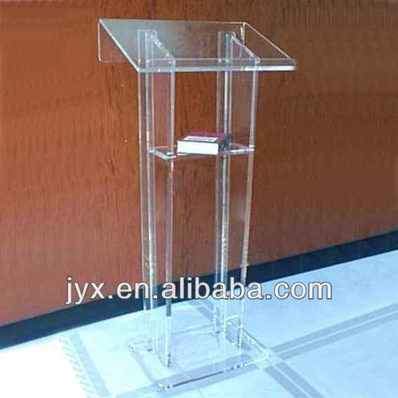 High Polished Acrylic Church Pulpit/Plexiglass Church Podium