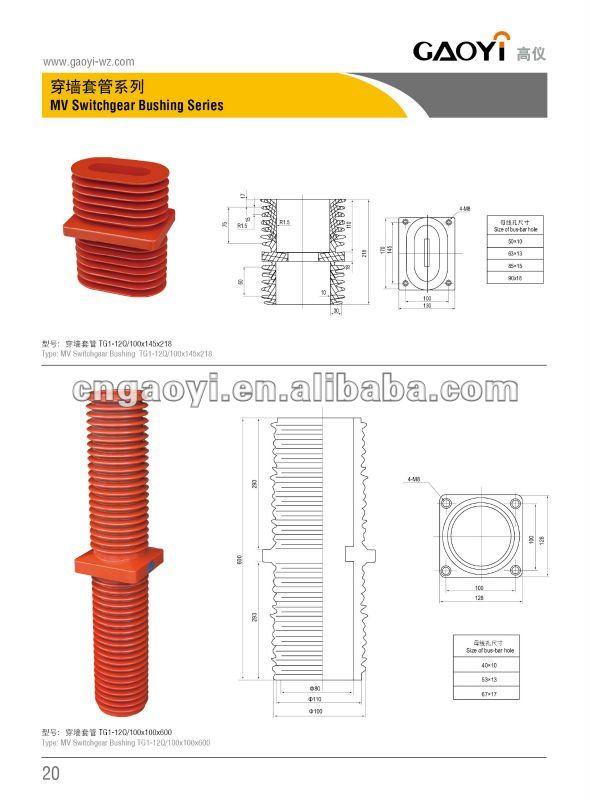 Medium voltage switchgear epoxy resin insulation