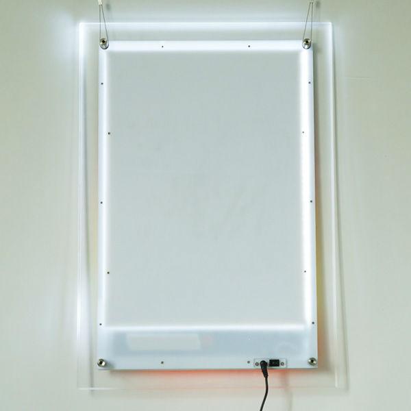 cadre photo en cristal led bo te lumi re led message mouvant caissons lumineux publicit id. Black Bedroom Furniture Sets. Home Design Ideas