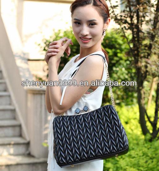 lady pu stachel bag with secret pocket