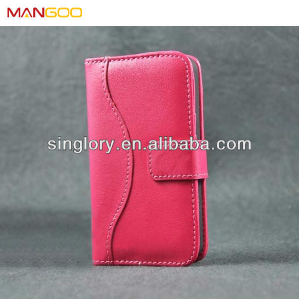 Hot selling mobile phone wallet case for iphone 4s