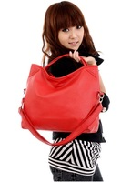 Free shipping! 2012 new arriving Hot sale fashion casual women's handbag, top pu leather ladies shoulder bag +3 colors