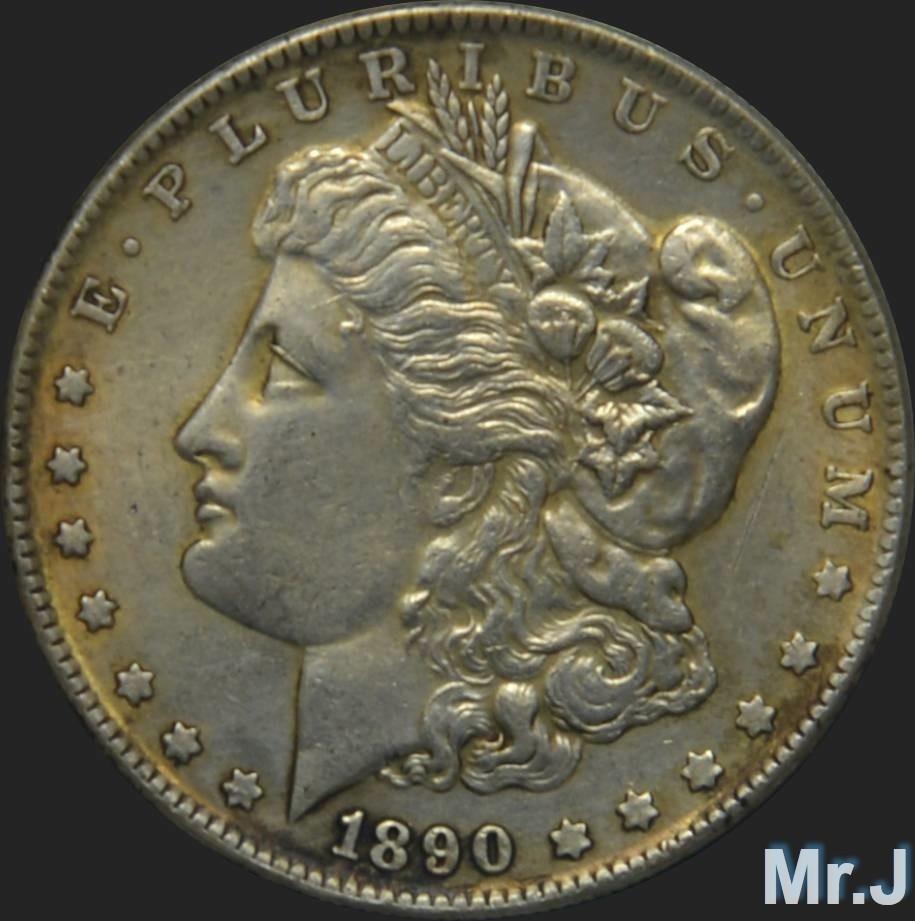 1890 silver dolar:
