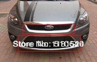 Специализированный магазин 2009-2011 Ford Focus ABS Chrome Front Grille Around Trim Racing Grills Trim ghyt