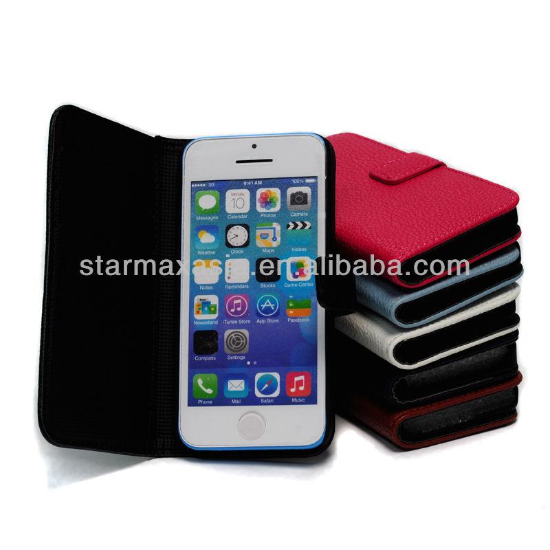 Premium for iPhone 5C PU leather case