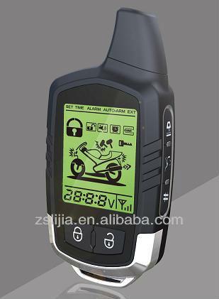 LCD two way motorcycle alarm 2 way motorbike alarm system