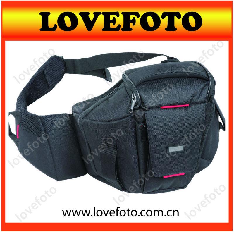 Sling DSLR Camera Backpack Photo Carry Shoulder Bag ( Red )