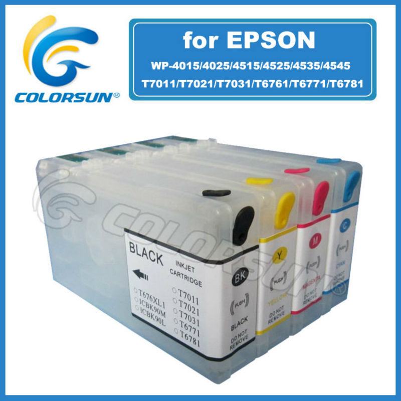 2012 High Quality refillable ink cartridge for Epson T0711/T0712/T0713/T0714/WP-4530/4540