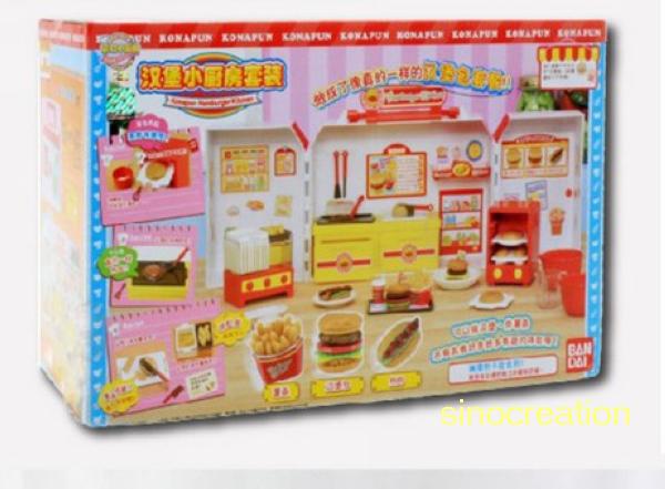 Free Shipping Japan Konapun Hamburger French Fries Kid Toys Cooking Kitchen  Set, Kids Educational Pretend Play Kitchen Toy