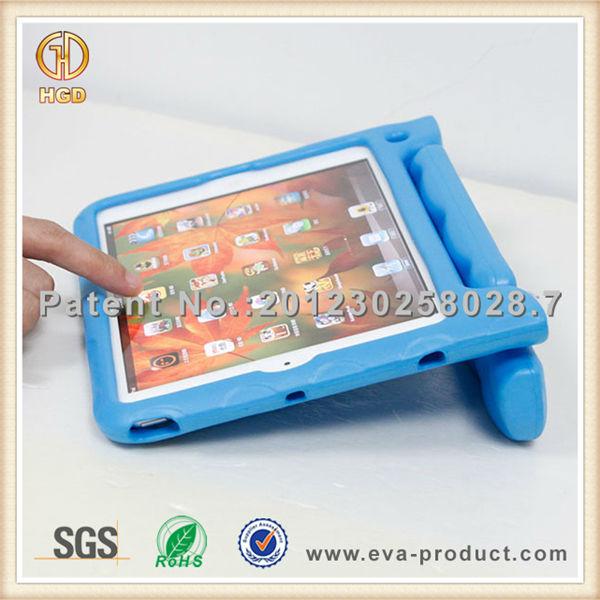 anti shock drop EVA rotatable hand hold case for ipad mini
