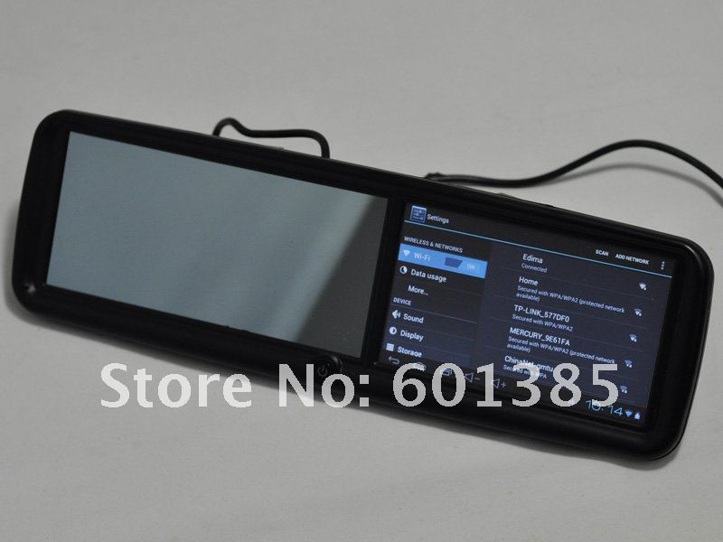 "5"" Car Rearview Mirror with GPS ,Android 4.0,wifi, HD screen ,google map + 4GB TF Card"