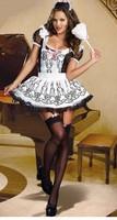 Женский маскарадный костюм Sexy French Maid Costumes, Waitress Costume, Women Halloween Dress, COS Club Wear, Party Dress CC044