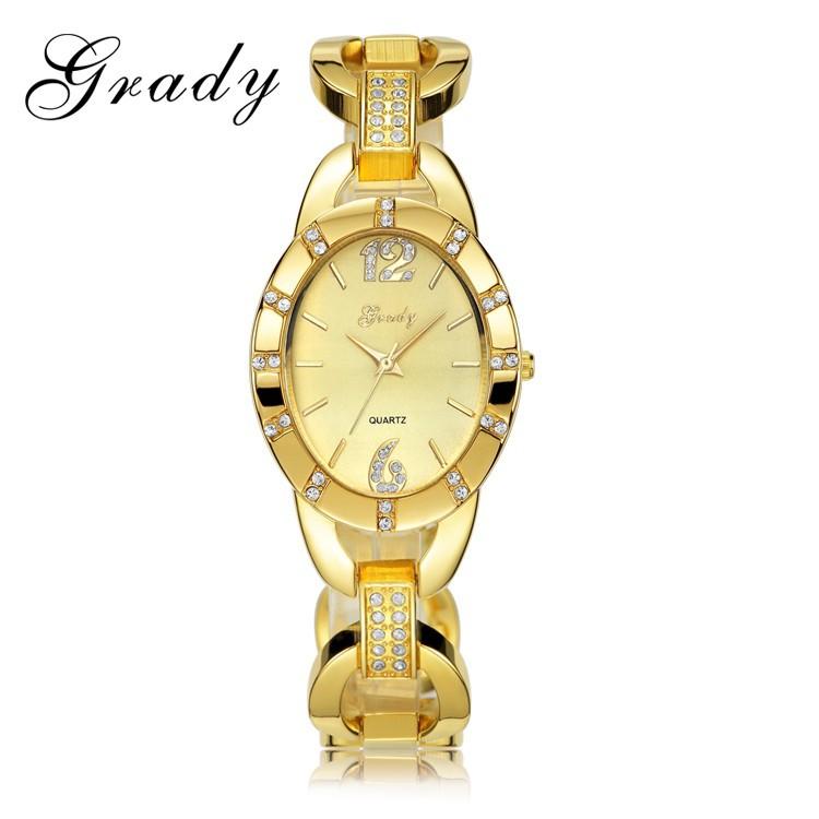 Грейди Горячая продажа Бесплатная Доставка леди марка женская мода горный хрусталь смотреть Японские кварцевые часы