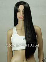Парик jewelry_wig$ NEW Black Sexy Long Straight Cosplay wig+cap W1311