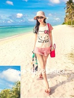 Женские сандалии 5 Colors Woman Sweet Bowtie Slippers Wedges Flange Flip Flops All-match Beach Sandals 1 Pair Candy Color