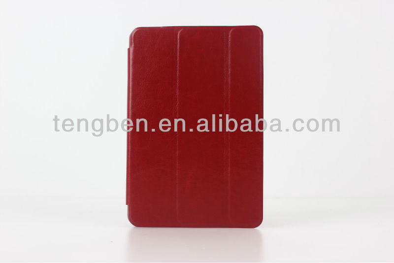 2013 new silicon for ipad mini cases(strong magnetic,auto on/off)