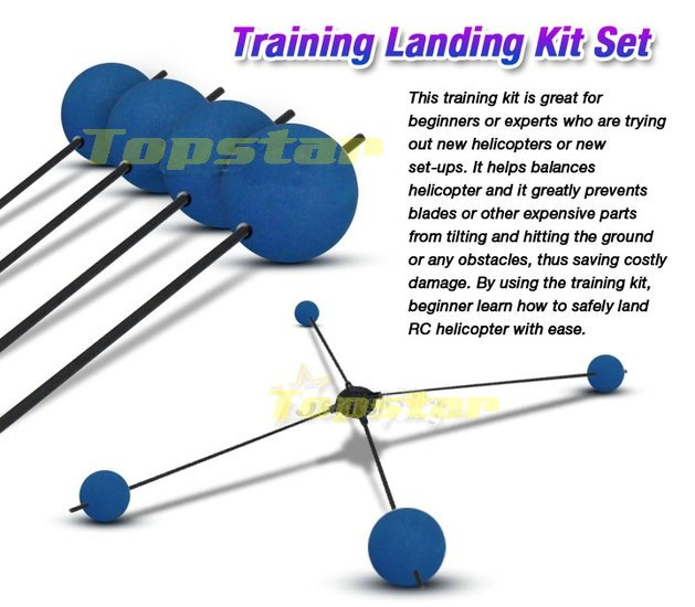 Landing Training anti-crash kit sets 450 3D Heli Sponge Balls For Rc Helicopter Esky Walkera