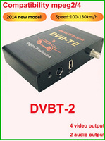 Car TV receiver box for dvbt mpeg2 high definition mobile digital TV Tuner Receiver single tuner with free shipping fee