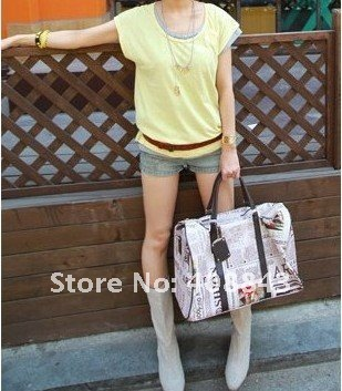 special stylish europe &america magazine word shape other waterproof material tote bag