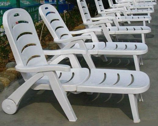 2012 r glable en plastique blanc chaise de plage en for Chaises longues plastique