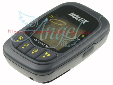 HOLUX GPS port 245 GPS receiver stopwatch locator for bike Data Logger+range finder+code table+gps tracker,golf gps  #AK011