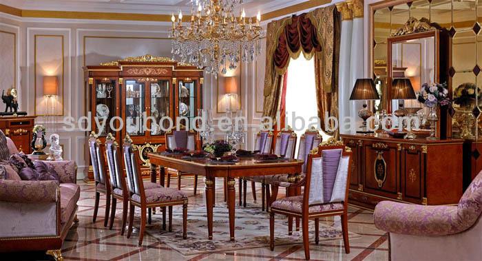 0038 Royal beech solid wood classic luxury dining room  : 1208721067505 from sdyoubond.en.alibaba.com size 700 x 379 jpeg 123kB
