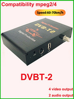 Специализированный магазин Car mobile TV tuner ISDB-T receiver digital tv receiver ISDB Set Top box ISDBT BRAZIL CHILE south america with 4 video output