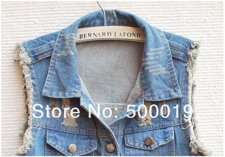 2013 мода дамы джинс жан куртки заклепки