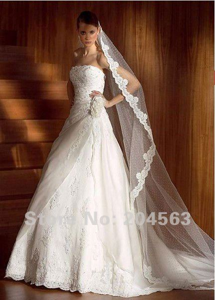 Lace Wedding Dress With Long Veil Wedding Dress With Long