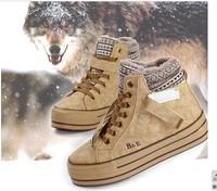 Женские ботинки Winter new lambs wool + increased parsimony reflexed in snow boots