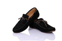 Men casual driver shoes flat lazy boat shoes 100% cow leather flats