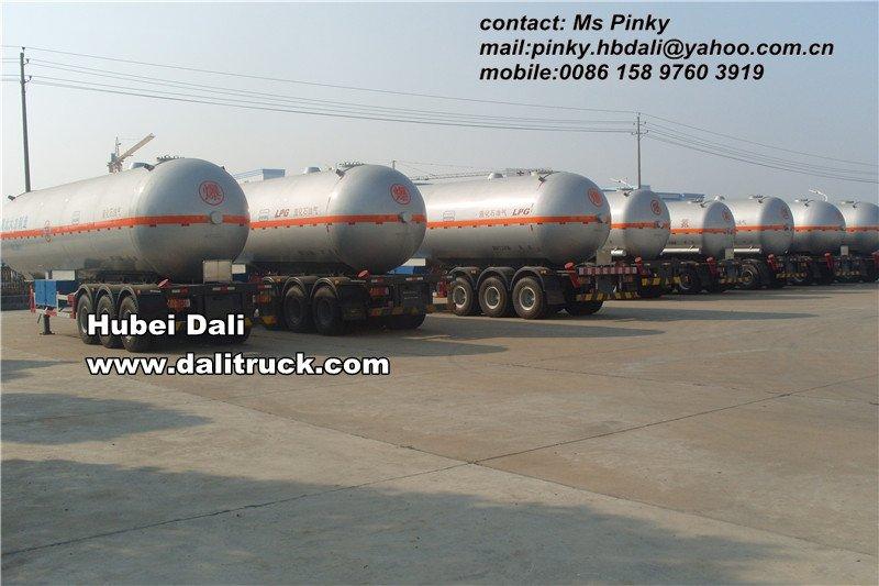 55.84cbm LPG tank trailer(to load propane, prpylene, liquid ammonis, liquid nitrogen, Liquid hydrogen, liquid metural gas)