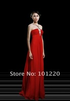 New Collection  Actual Images Crystal Beaded Halter Sexy Key Hole Ruched Bodice A line Evening Gown