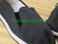 [CPA Free Shipping] Wholesale Classic Unisex Cheap Beijing Cotton Cloth Shoes / Black Casual Shoes 6pair/lot  (SZ-10)
