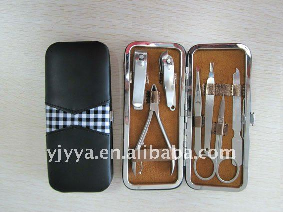 Beauty carton manicure /set with 10pcs /Stainless steel tools Manicure Set MH-535