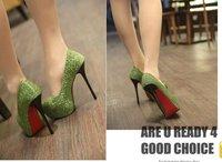 Туфли на высоком каблуке Sexy Glitter Stiletto Bridal Dress Shoes