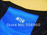 12/13 Thailand High Quality Inter MILAN soccer jersey home blue and black Soccer Jersey(Fans version),Football Jerseys Shirt.