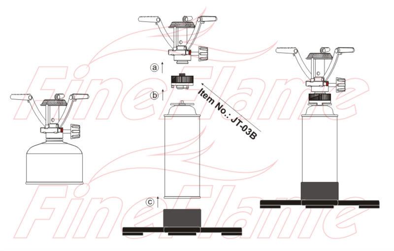 Cartucho de gás adaptador _ jt-03b