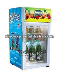 Table top mini bar freezer display fridge