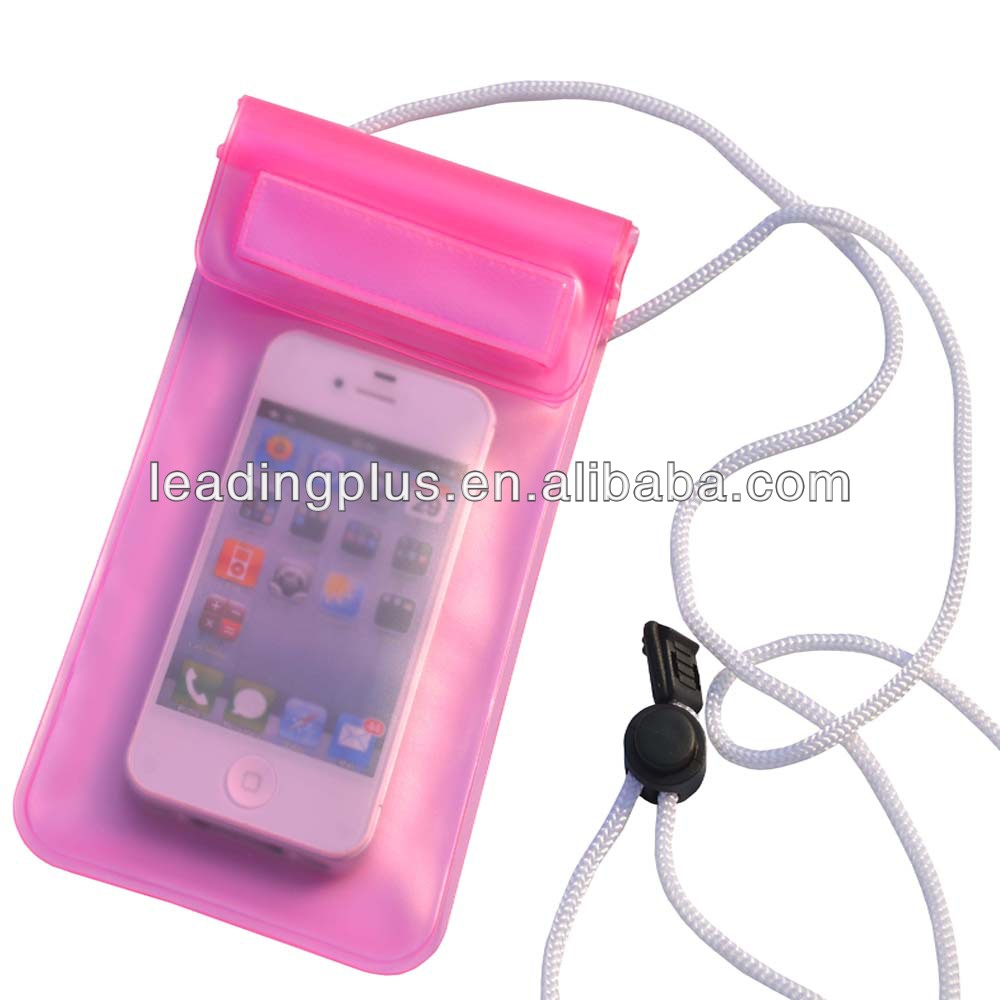 factory price high quality pvc waterproof phone bag for iphone 5