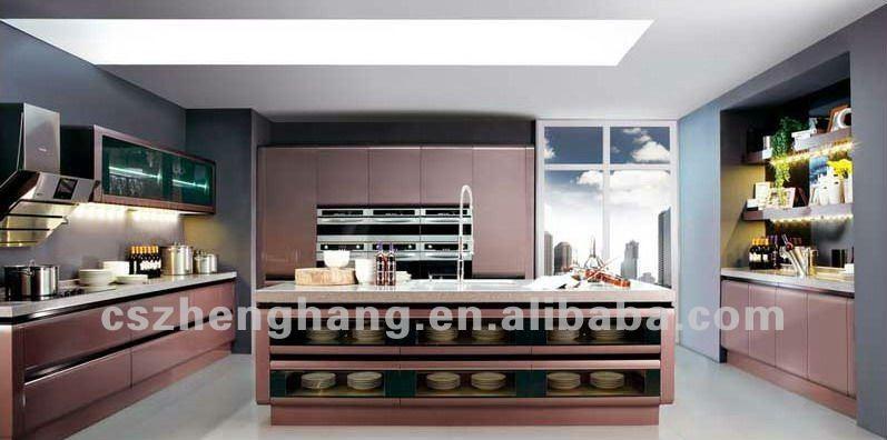 الحديثة تصميم المطبخ zh2106 الألومنيوم