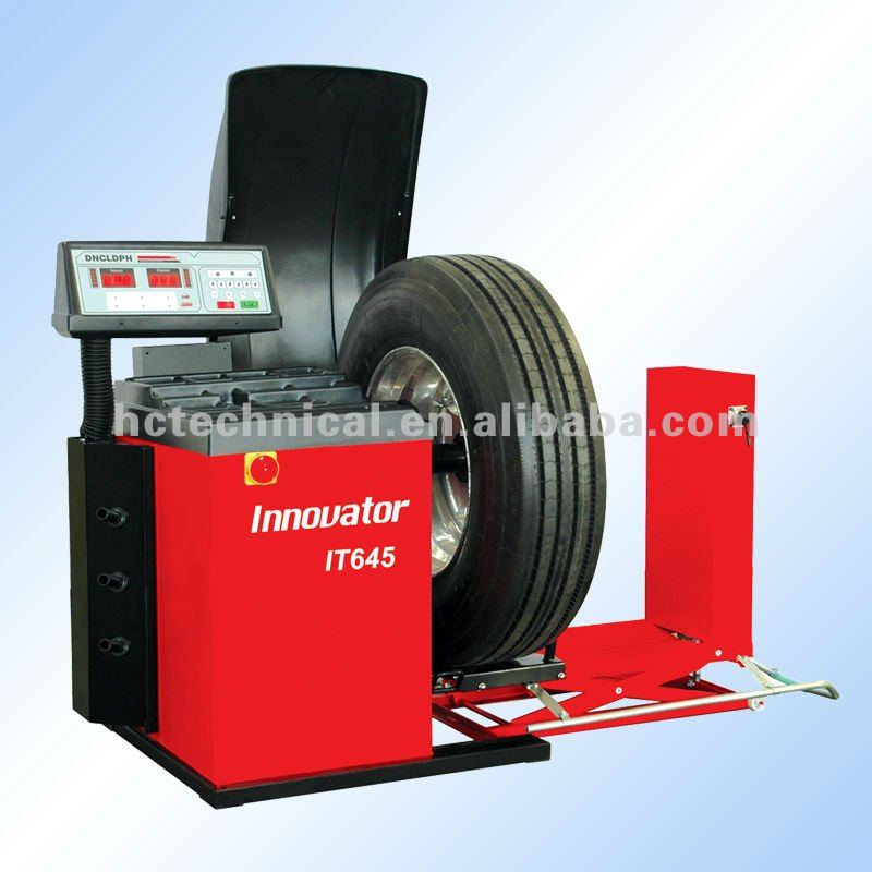 electronic balancing machine for car and truck tire balancing with CE certificate IT645