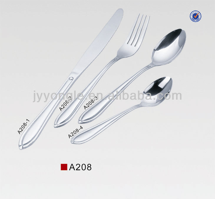 Attractive stainless steel dinnerware sat